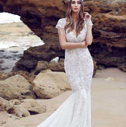 anna campbell v-neck wedding dress