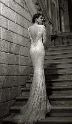 Berta open back wedding dress