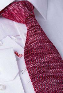 bordo rengi örgü kravat