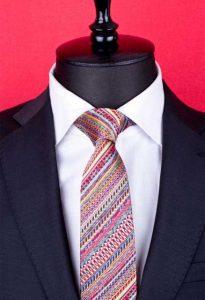 desenli ipek kravat