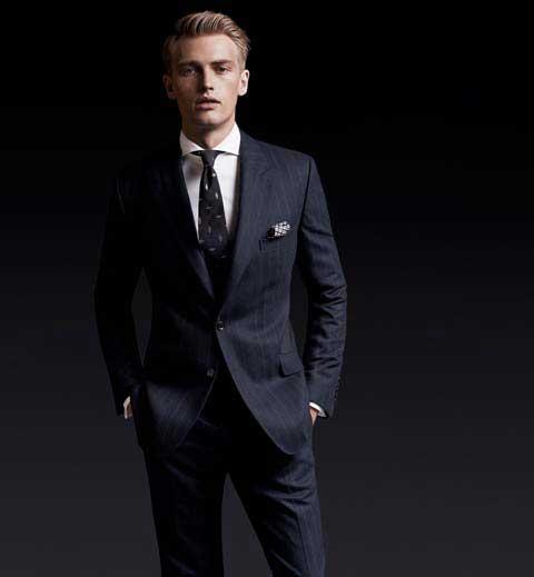 d518ff1ed1034 Massimo Dutti Extreme Lux: Lacivert Takım Elbise | Binkelam