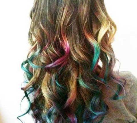 the rainbow hair