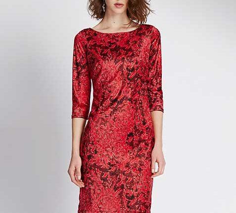 Marks Spencer kırmızı elbise