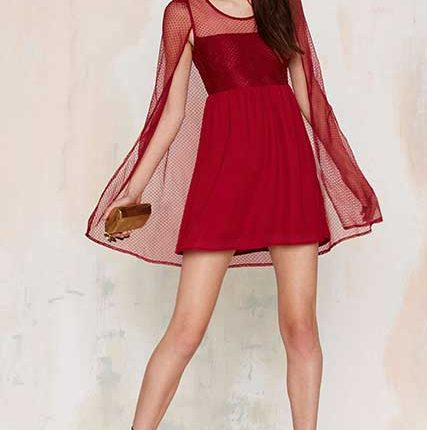 red cocktail dress-Nasty Gal