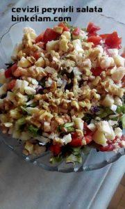 cevizli peynirli salata