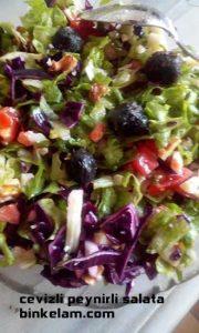 cevizli peynirli salata tarifi