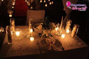 romantik masa süsleme