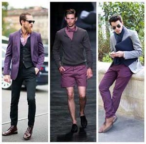 mor renk erkek kıyafetleri